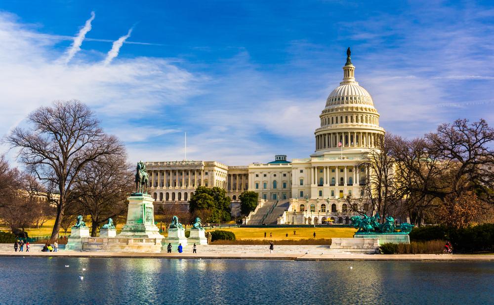 The Capitol and Reflecting Pool in Washington, DC.-2